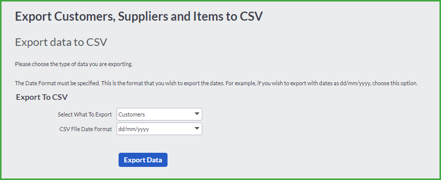 Importing and Exporting Data on