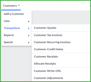 customer transactions