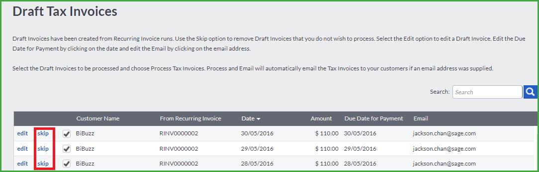 Tax Invoices   Edit Delete A Customer Tax Invoice
