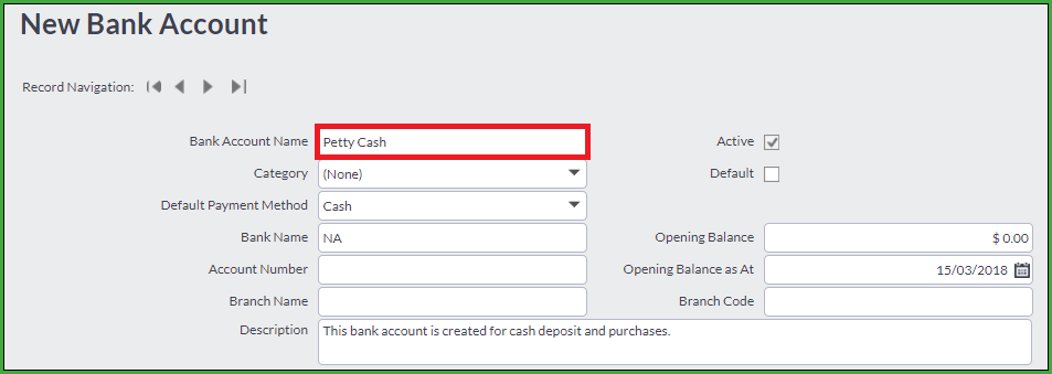 Record your cash receipts/purchases